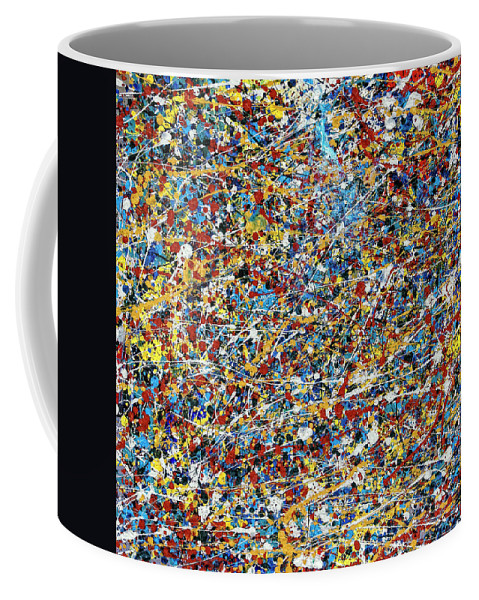 Abstract Coffee Mug featuring the painting String Theory by Dominic Piperata
