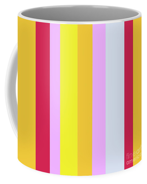 Stripe Coffee Mug featuring the painting Striped Color In Pastels by Eloise Schneider Mote
