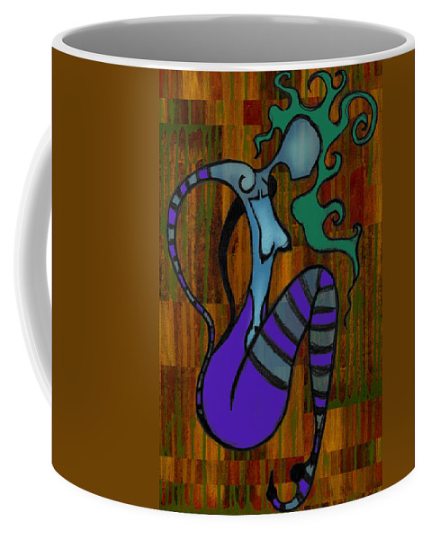 Stripes Coffee Mug featuring the digital art Stripes by Kelly Jade King