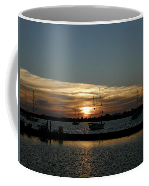 Sun Coffee Mug featuring the photograph Strolling In The Sunset by Kimberly Mohlenhoff