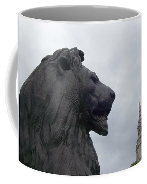Lion Coffee Mug featuring the photograph Strong Lion by Mary Mikawoz