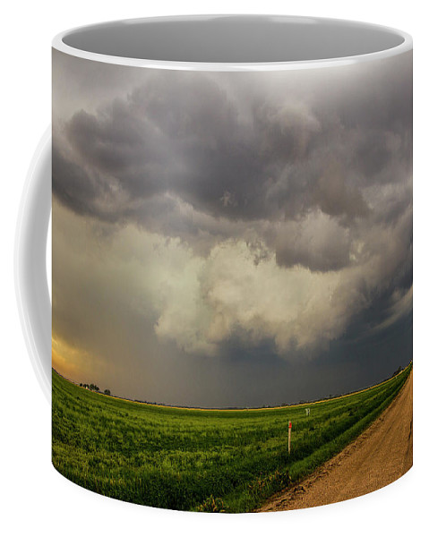 Nebraskasc Coffee Mug featuring the photograph Strong Storms In South Central Nebraska 003 by NebraskaSC