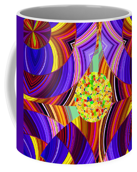 ruth Palmer Coffee Mug featuring the digital art Stuck In The Middle by Ruth Palmer
