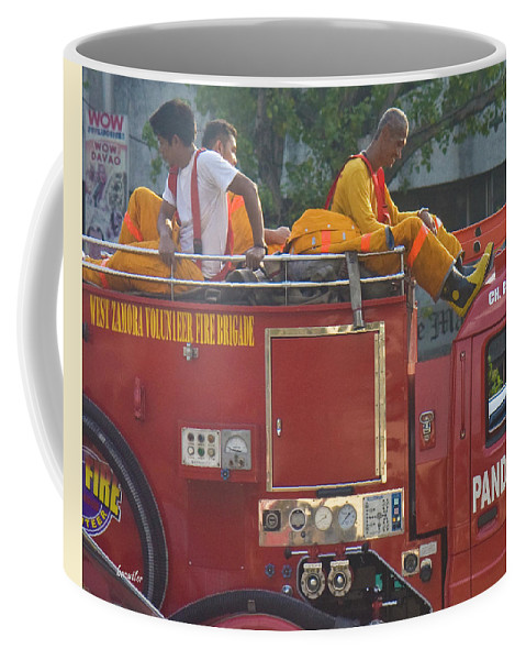 Philippines Coffee Mug featuring the photograph Stuck In Traffic by Betsy Knapp
