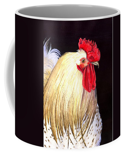 Rooster Coffee Mug featuring the painting Studdley by Catherine G McElroy
