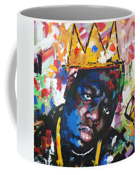 Biggie Coffee Mug featuring the painting Biggie Smalls by Richard Day