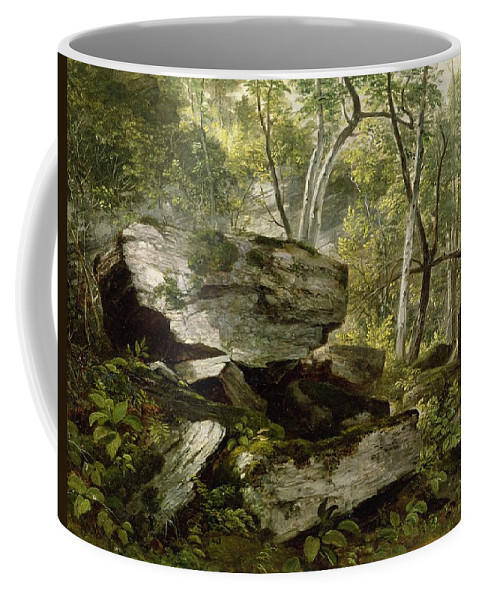 Durand Coffee Mug featuring the painting Study From Nature  Rocks And Trees by Asher Brown Durand