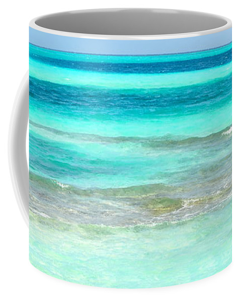 Maldives Coffee Mug featuring the photograph Study In Blue by Corinne Rhode