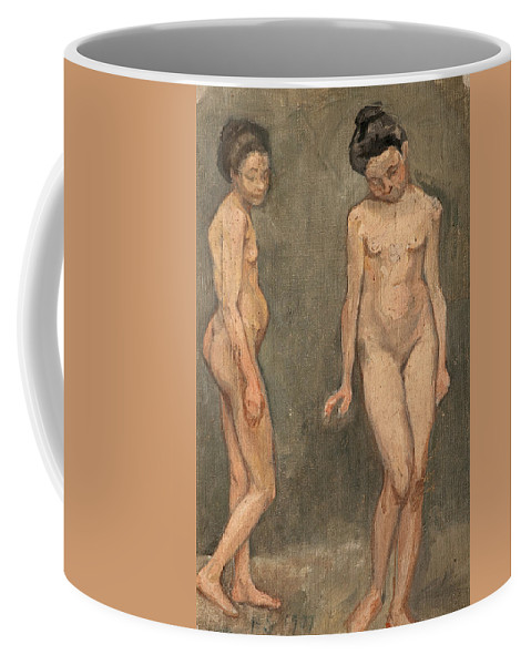 19th Century Art Coffee Mug featuring the painting Study Of A Naked Model by Hugo Simberg