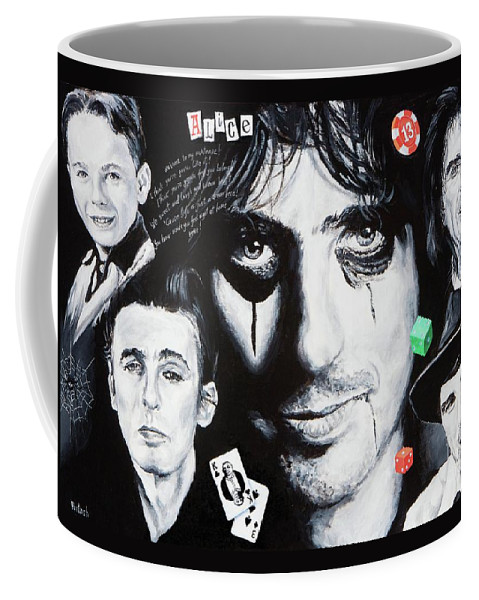 Alice Cooper Coffee Mug featuring the painting Study Of Alice by Igor Postash