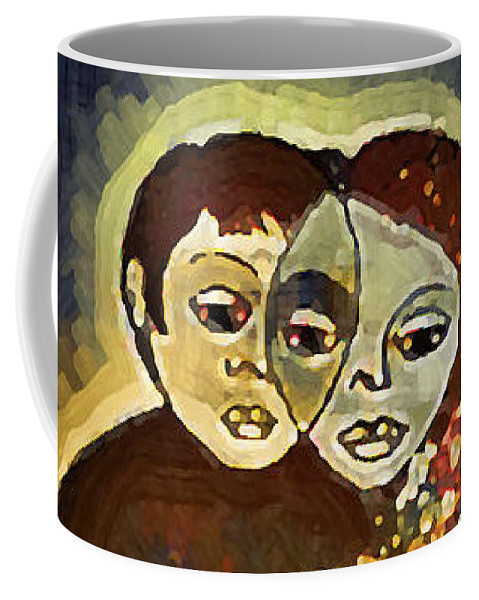 Love Invention Coffee Mug featuring the digital art Study To Invention Of Love by Madalena Lobao-Tello