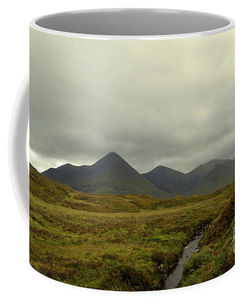 Cuillen-hills Coffee Mug featuring the photograph Stunning Countryside In Cuillen Hills With Large Mountains by DejaVu Designs