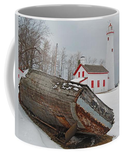 Sturgeon Point Lighthouse Coffee Mug featuring the photograph Sturgeon Point Lighthouse by Michael Peychich