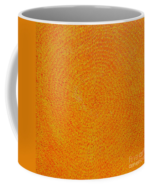 Abstract Coffee Mug featuring the painting Su Gaia by Dean Triolo
