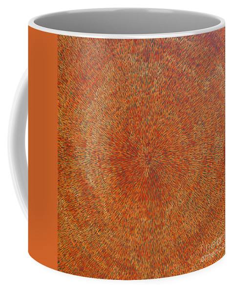 Abstract Coffee Mug featuring the painting Su Gaia Earth by Dean Triolo