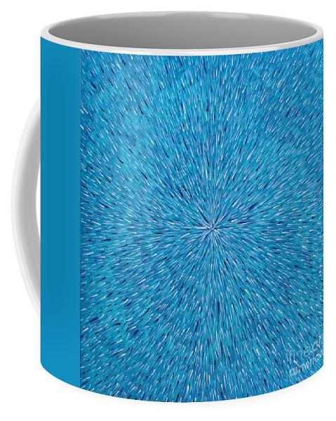 Abstract Coffee Mug featuring the painting Su Gaia Rain by Dean Triolo