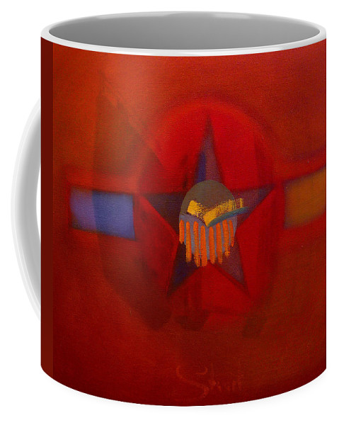 Warm Coffee Mug featuring the painting Sub Decal by Charles Stuart
