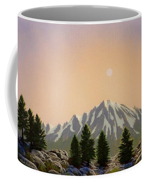 Landscape Coffee Mug featuring the painting Sublime Sierra Light by Frank Wilson