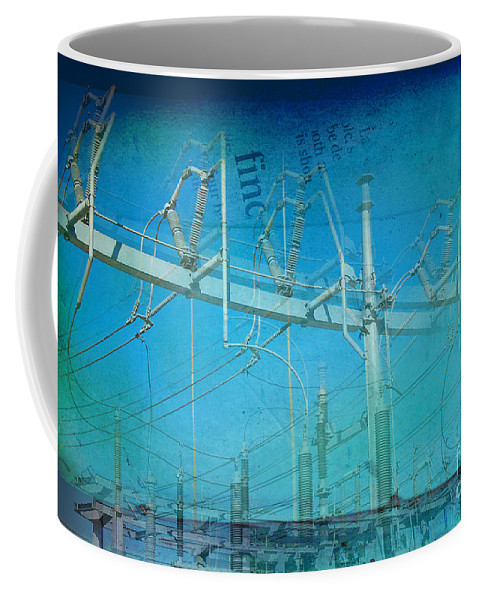 Substation Coffee Mug featuring the photograph Substation Insulators by Paulette B Wright