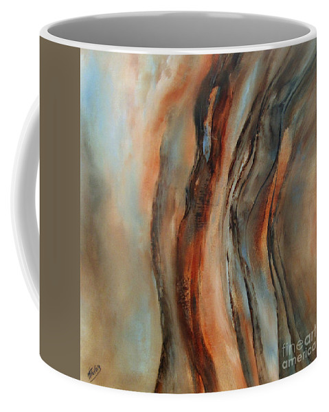 Abstract Coffee Mug featuring the painting Subtle Changes by Valerie Travers