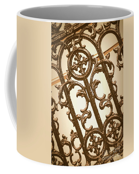 Southern Charm Coffee Mug featuring the digital art Subtle Southern Charm In Sepia by Carol Groenen