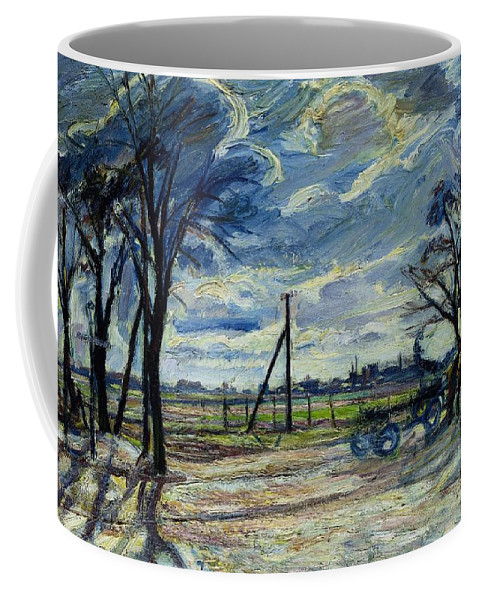 Suburban Coffee Mug featuring the photograph Suburban Landscape In Spring by Waldemar Rosler