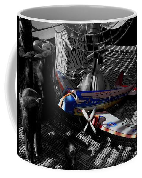 Still Life Coffee Mug featuring the photograph Suburban Safari The Zebra Strikes Back by Charles Stuart