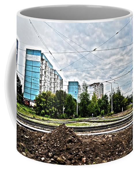 Going Far Coffee Mug featuring the digital art Suburbs by Alessandro Cini