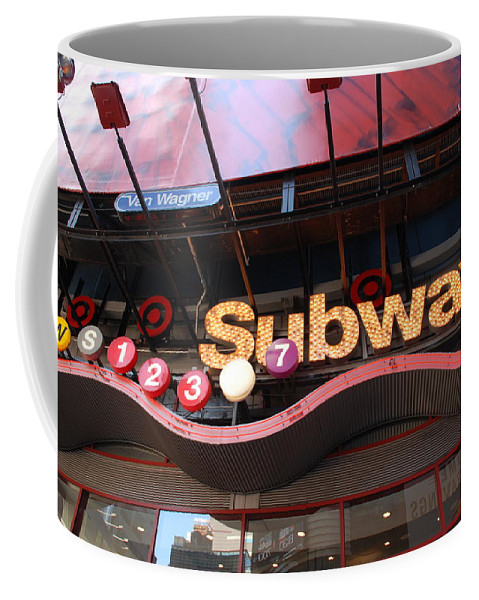 Neon Coffee Mug featuring the photograph Subway by Rob Hans