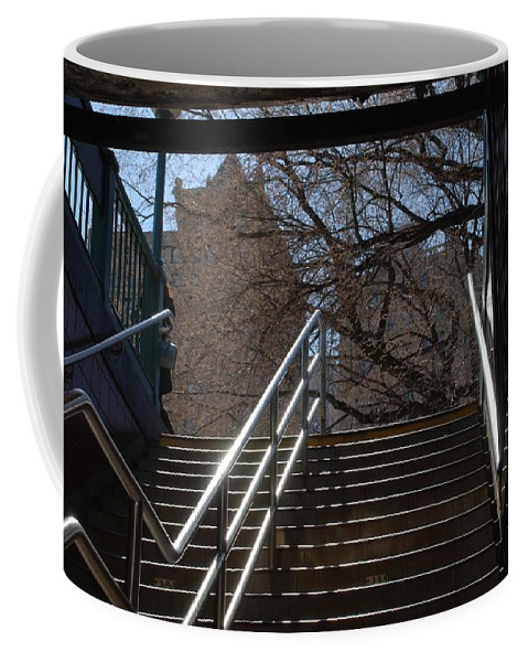 Street Scene Coffee Mug featuring the photograph Subway Stairs by Rob Hans
