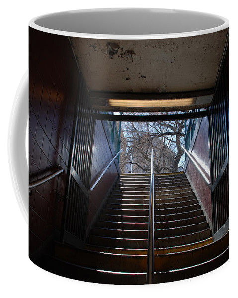 Pop Art Coffee Mug featuring the photograph Subway Stairs To Freedom by Rob Hans