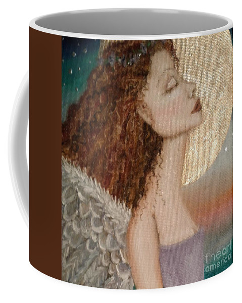 From Lyrics To Angels Coffee Mug featuring the painting Such Are My Prayers by Wendy Wunstell