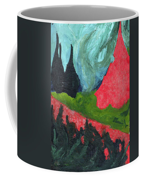 Colour Coffee Mug featuring the painting Such Me by Wojtek Kowalski