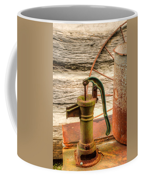 Pump Coffee Mug featuring the photograph Suction Water Pump by Douglas Barnett