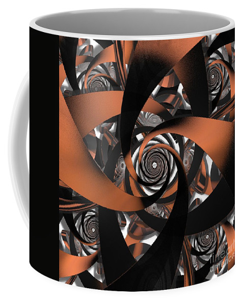 Fractal Coffee Mug featuring the digital art Suede Spiral by Ron Bissett