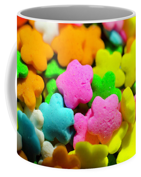 Colorful Coffee Mug featuring the photograph Sugar Stars by Kevin Gallagher