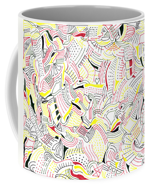 Mazes Coffee Mug featuring the drawing Sugar by Steven Natanson