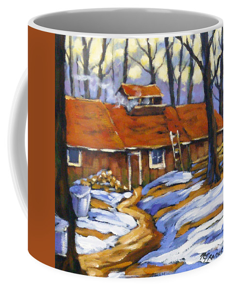Sugar Shack Coffee Mug featuring the painting Sugar Time by Richard T Pranke