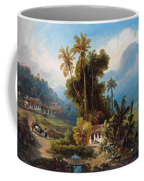 19th Century Art Coffee Mug featuring the painting Sugarcane Plantation Of San Esteban Near Puerto Cabello, Venezuela by Ferdinand Bellermann