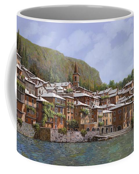 Lake Como Coffee Mug featuring the painting Sul Lago Di Como by Guido Borelli