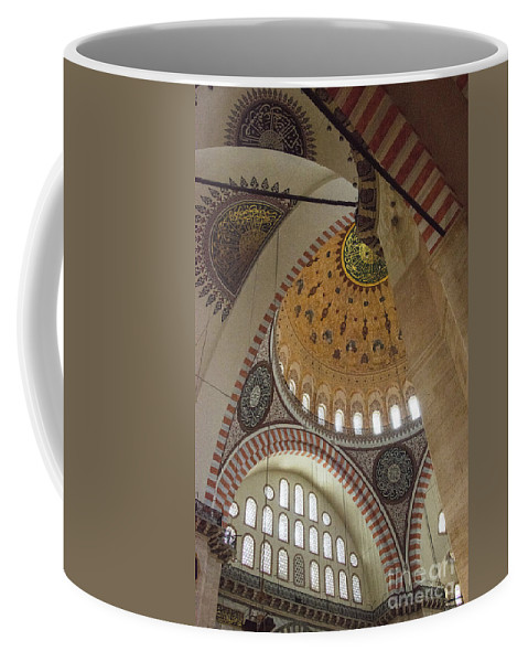 Fatih Coffee Mug featuring the photograph Suleymaniye Arches And Domes by Bob Phillips