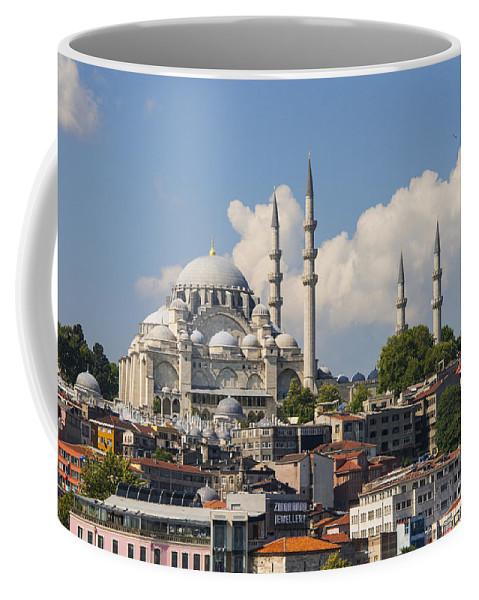 Fatih Coffee Mug featuring the photograph Suleymaniye Camii by Bob Phillips