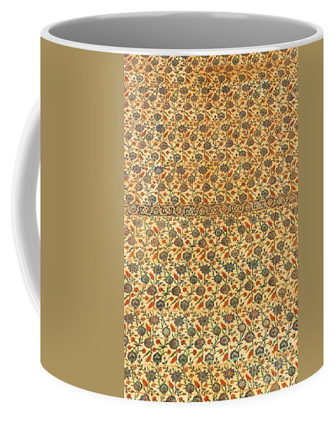 Sultanahmet Coffee Mug featuring the photograph Sultan Ahmed Mosque Tiles by Bob Phillips