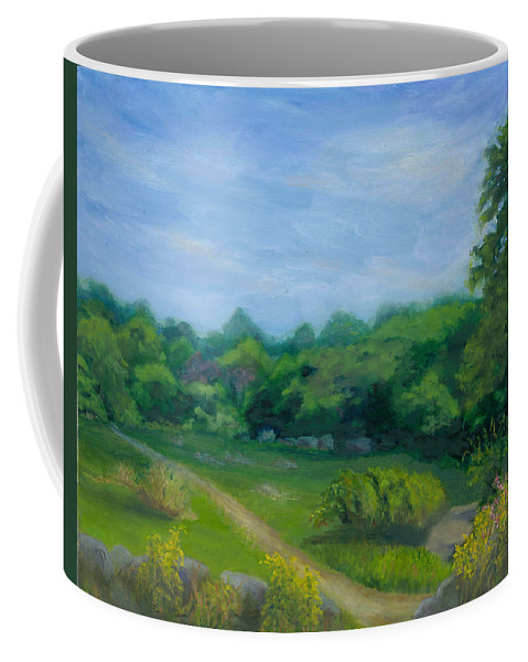 Landscape Coffee Mug featuring the painting Summer Afternoon At Ashlawn Farm by Paula Emery