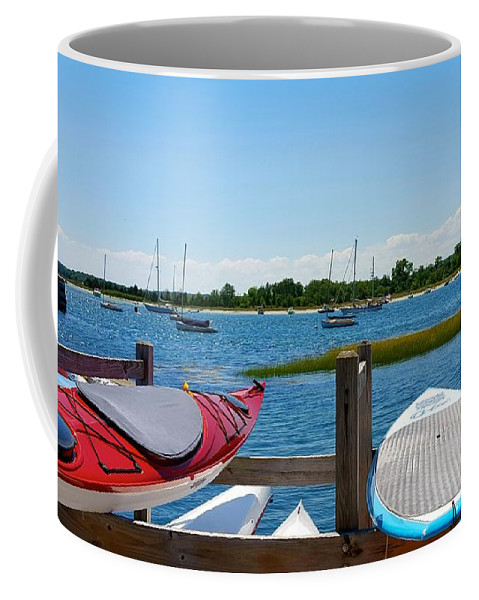 Blue Sky Coffee Mug featuring the photograph Summer Afternoon Boating by Harriet Harding
