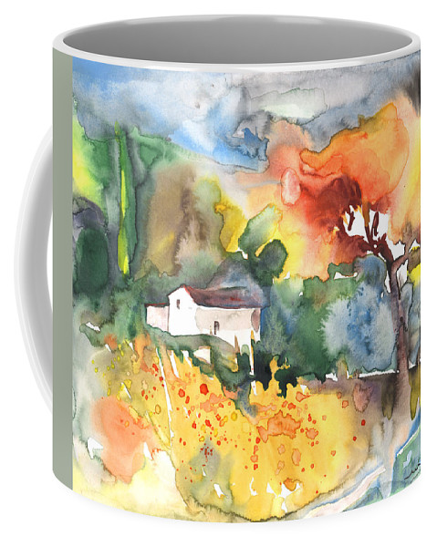 Watercolour Coffee Mug featuring the painting Summer Afternoon by Miki De Goodaboom