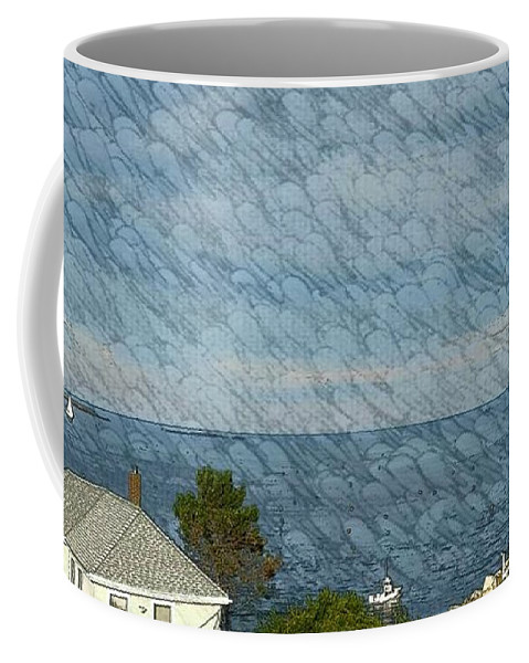 Blue Ocean Coffee Mug featuring the photograph Summer Afternoon Sail by Harriet Harding