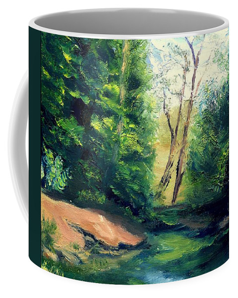 Landscape Coffee Mug featuring the painting Summer At Storm by Gail Kirtz