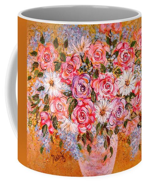 Flowers Coffee Mug featuring the painting Summer Bouquet by Natalie Holland