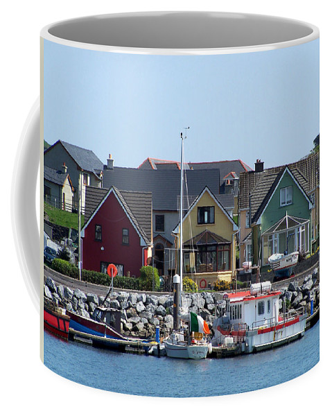 Irish Coffee Mug featuring the photograph Summer Cottages Dingle Ireland by Teresa Mucha